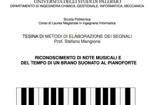 Riconoscimento di Note Musicali