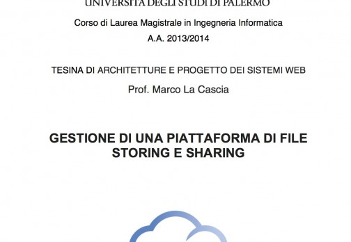 WebApp: File Storing e Sharing